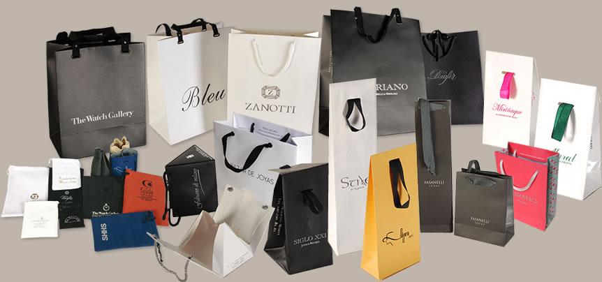 5c677206b Anna Carrara: Bolsas de tela o papel y estuches para joyerías y ...